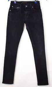 Nudie-Jeans-Femmes-Etroit-Lin-Slim-Jeans-Extensible-Taille-W27-L32-AVZ1612