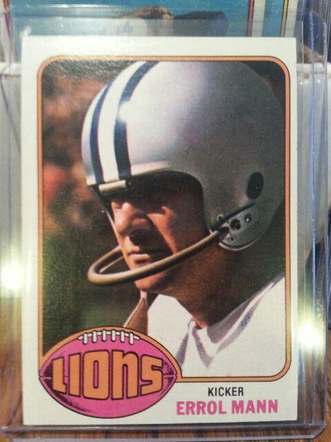 1976 Topps Errol Mann Detroit Lions #227 Football Card