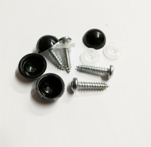 Cherished Registration Number Plate Fixing 4x Black Screws /& Domed Caps