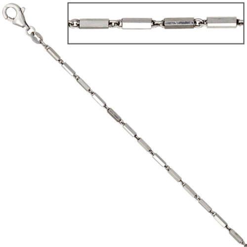 1,4mm Gliederkette Collier Kette Halskette 925 Silber Karabiner 50cm Damen