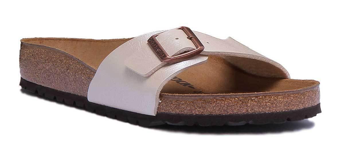 Birkenstock Madrid Womens Flor Pearl White Birko Flor Womens Sandal Size f5a59b