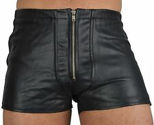 AW533 LEATHER SHORTS BACK FREE,GAY LEATHER PANTS BONDAGE,TROUSERS,ledershorts
