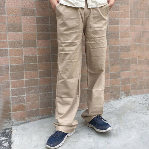 Pantaloni lunghi ALBERO wollleinen da uomo per il tempo libero Pantaloni secondario Pantaloni Spiaggia Pantaloni L//P