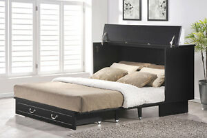 Arason-Cottage-Creden-ZzZ-Murphy-cabinet-bed-black-finish-Opens-to-Queen