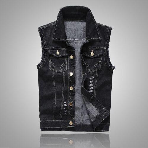 Women Denim Waistcoat Summer Sleeveless Fastener Jacket Vest Weskit Outwear