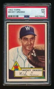 1952-TOPPS-MICKEY-GRASSO-PSA-7-NM-WASHINGTON-SENATORS-90-SHARP