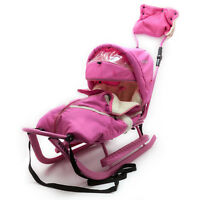 Schlitten Deluxe Pink Kinderschlitten Baby-winter-fußsack Lammwolle Schlafsack