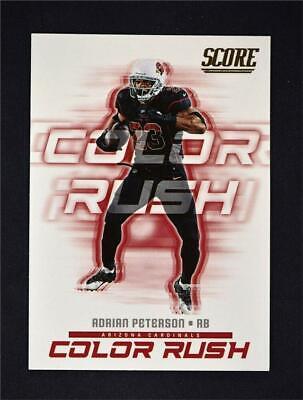 2018 Score Color Rush #10 Adrian Peterson - Arizona Cardinals   eBay