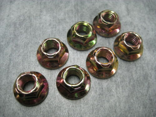 Ships Fast! Pack of 7 Nuts 8mm M8x1.25 Exhaust Manifold Lock Nut