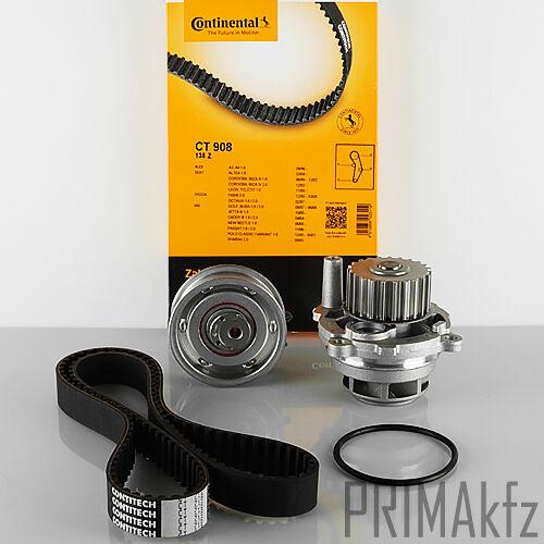 CONTI CT908 Zahnriemen + Spannrolle + Wasserpumpe Audi A3 A4 Seat Skoda VW 1.6