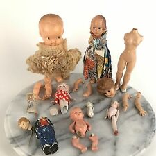 Lot Antique Vintage Dolls Porcelain Hard Plastic For Repair Repurpose Craft