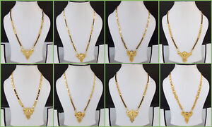 South-Indian-Gold-Plated-Chain-Pendant-Ethnic-Bridal-Jewelry-Mangalsutra-Set-001