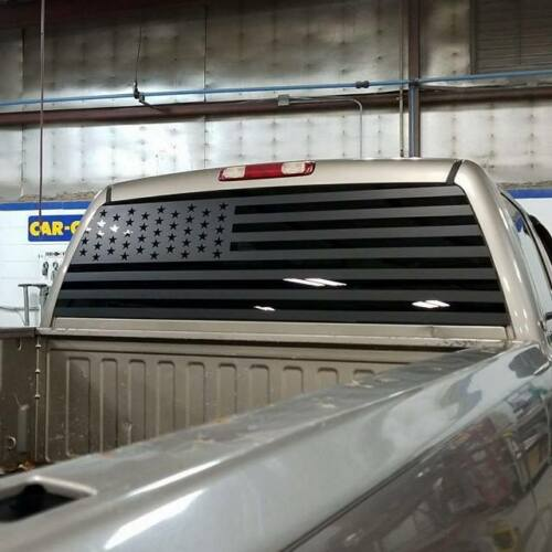 Sticker Rear Window Vinyl All Years American Flag Decal Silverado Sierra