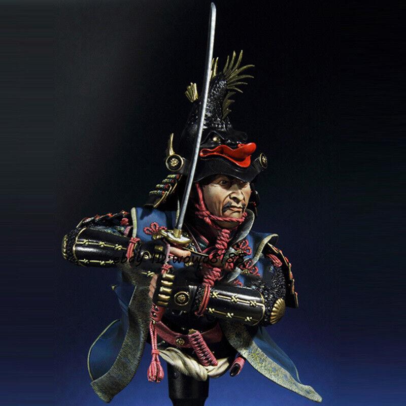 1 10 Scale Japan Daimyo Warrior Bust Model Ancient General Figure Kit Garage Kit