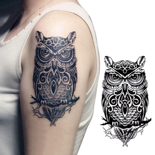 Temporary Tattoo Hand Painted Owl Tattoo Stickers Waterproof Tattoo Sticker EB