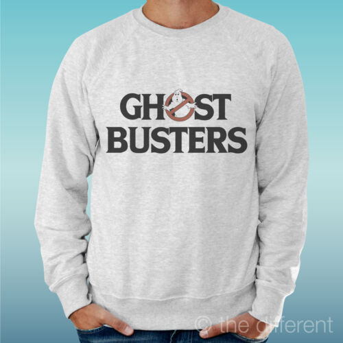 "Men/'s Sweatshirt Light Sweater Light Grey Grey /"" Gost Busters Logo Film Movie /"""