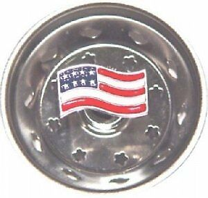Enamel Kitchen Stainless Sink Strainer USA Flag