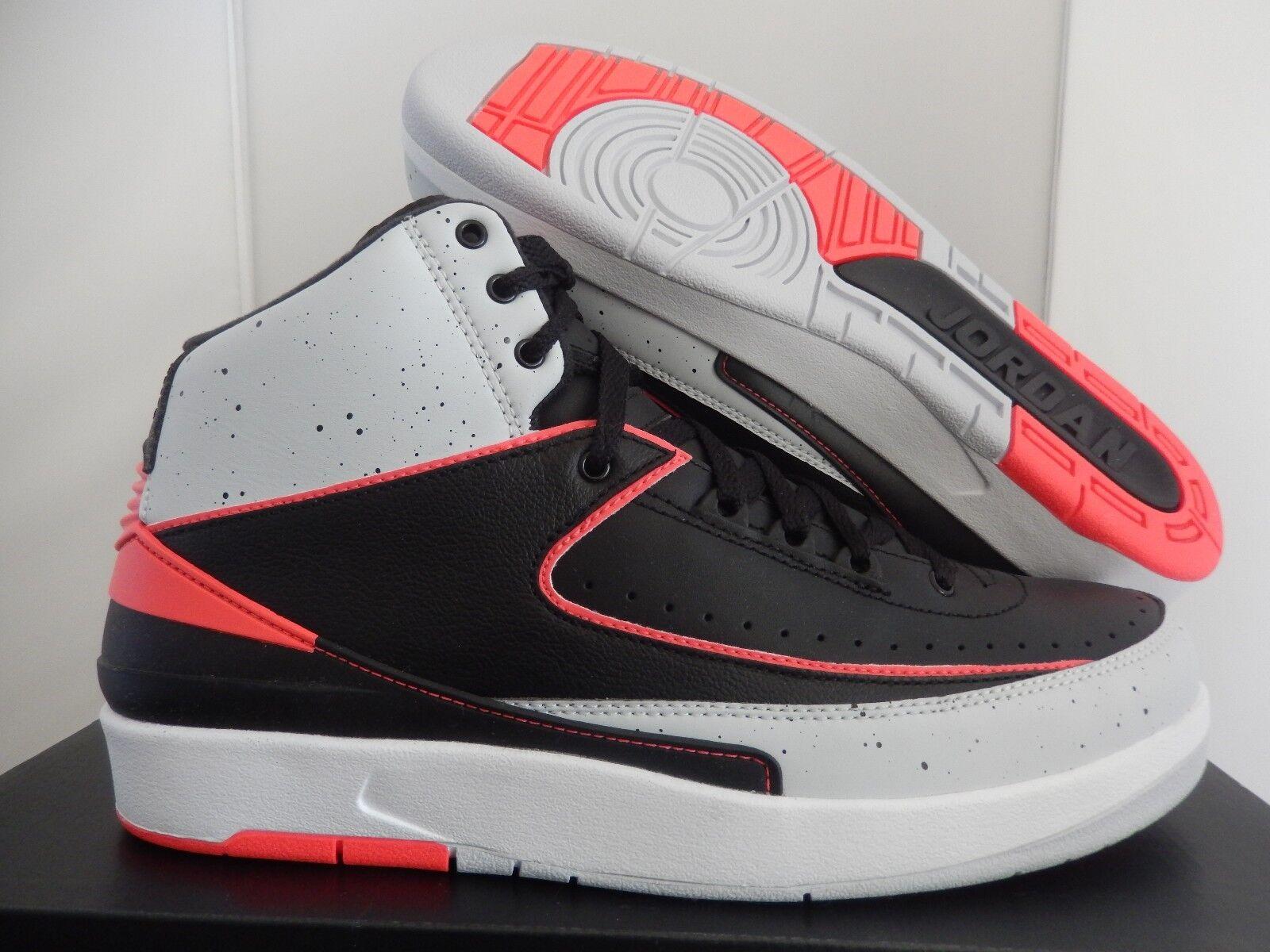 Nike air jordan 2 uomini retrò nero-infrared 23-platinum sz 9 [385475-023]