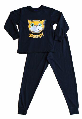 Garçons filles stampylongnose pixel stampy long pyjamas 7 à 12 ans visage noir