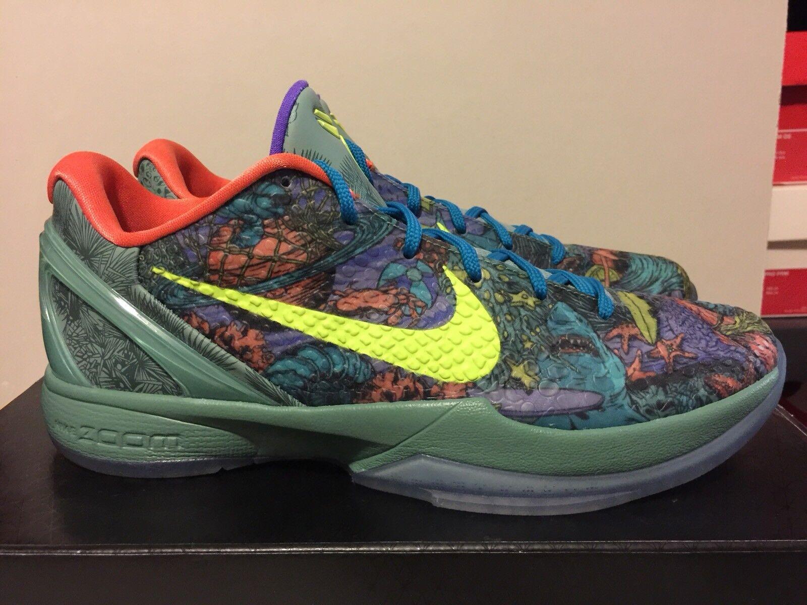 Nike Zoom KOBE VI 6 PRELUDE CANNON GREEN VOLT orange BLACK blueE 429913-008 Sz11