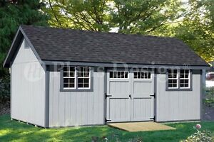 Storage Shed Plans 12 39 X 24 39 Gable Roof Style D1224g