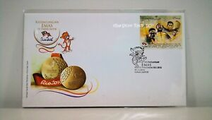 MALAYSIA-Paralympics-Golden-Moment-In-Rio-2016-Stamp-FDC