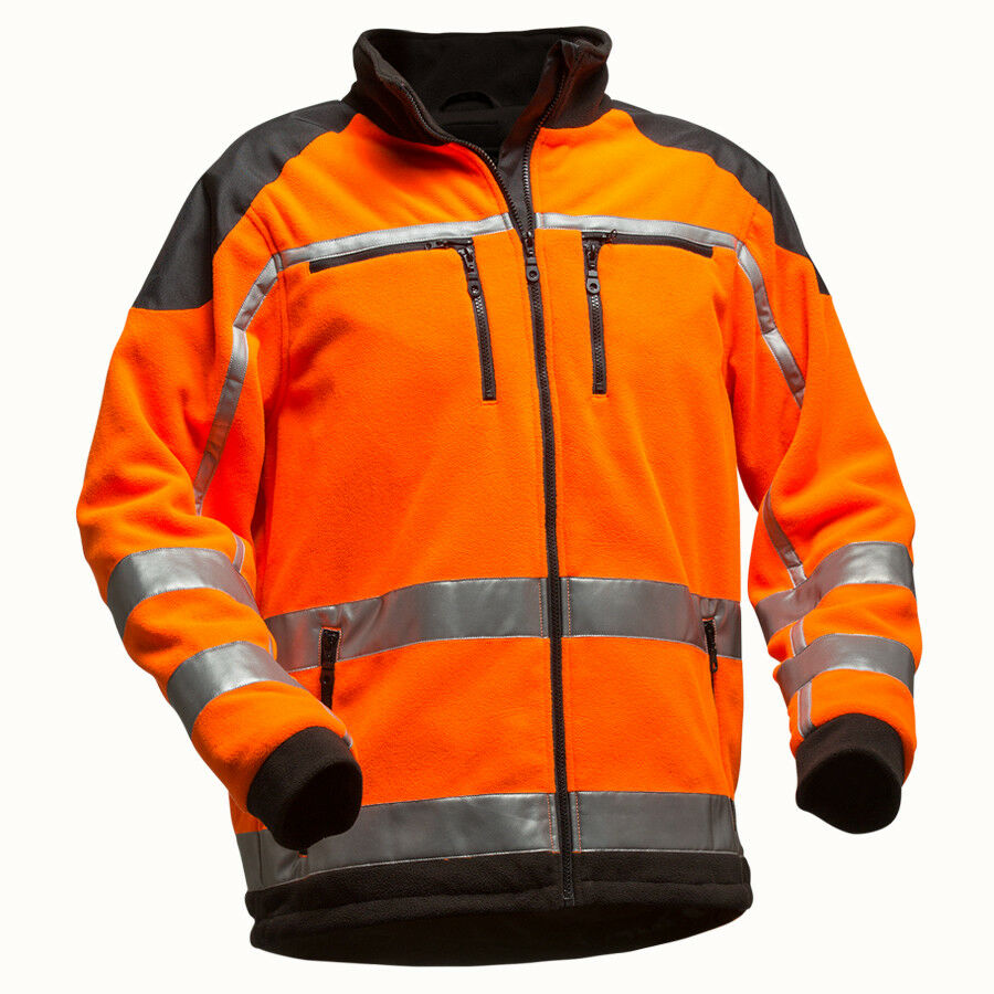 PFANNER Jobby Colour Fleecejacke EN20471 orange Jacke Fleece Forst Warnjacke