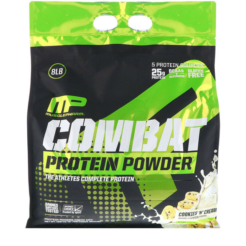 MUSCLEPHARM MUSCLEPHARM MUSCLEPHARM COMBAT PROTEIN POWDER 3.6kg (8lbs) WPI WPC MP - COOKIES AND CREAM c3b28d