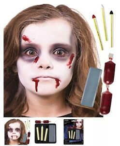 halloween special effects makeup zombie face paint complete kit ebay. Black Bedroom Furniture Sets. Home Design Ideas