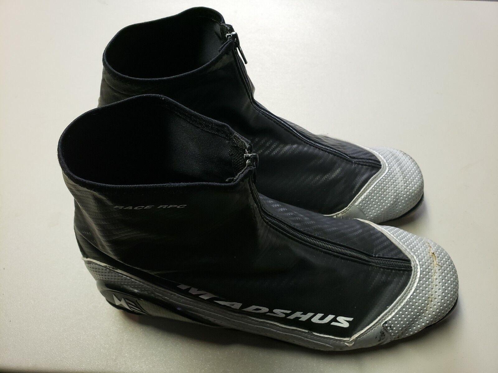 Madshus XC Ski  boots  Race RPC Zipper breathable used NNN fits Bindings