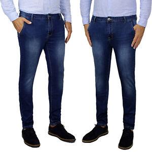 Jeans-Uomo-Slim-Fit-Tasca-America-Pantalone-Casual-Blu-Denim-Nuovo-DA-42-A-52