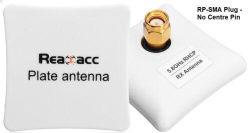 Realacc 5.8G 8dBi RHCP Plate Antenna RP-SMA RC FPV Drone Plane orangeRX UK