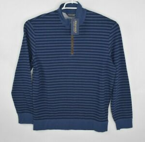 NEW-Polo-Golf-Ralph-Lauren-Mens-Size-L-Blue-034-The-Biltmore-034-1-4-Zip-Striped-128