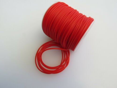 ** Synthetic Rubber Tube for Jewellery RED 2mm DIA 5Mtre lg x1mm bore **
