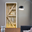3D-Retro-Wood-Door-Wall-Wrap-Mural-Photo-Wall-Sticker-Decal-Wall-Home-Decoration thumbnail 1