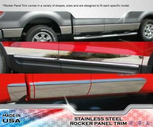 05-15 Toyota Tacoma Double//Crew Cab Long Bed Rocker Panel Trim Stainless Steel