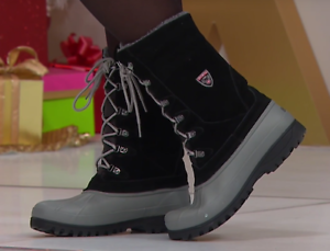 Sporto ® korrie, bota pato de Gamuza para curations Impermeable, Negro Gey 8.5 W
