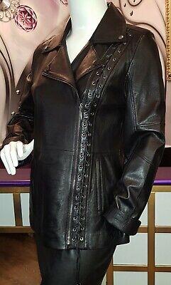 Details zu Luxus Designer elegante Damen echte Lederjacke Gr.44,46,48 NEU
