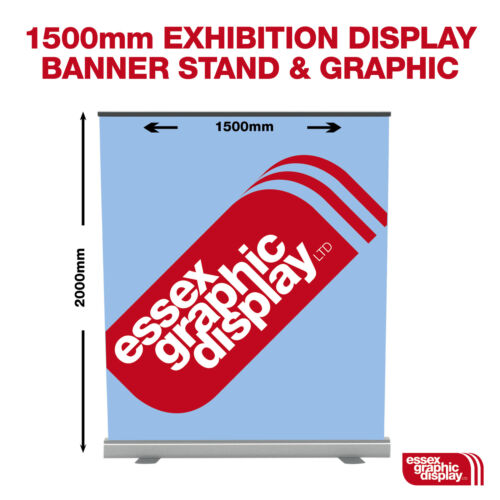 1500MM WIDE ROLLER BANNER STAND WITH GRAPHIC BESPOKE PARTY PHOTO SHOOT BACKDROP