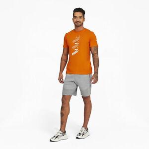 Puma Men's Amplified Stack Logo Tee Gray Size M