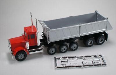 WHITE PETERBILT COE w DOUBLE PUP TRAILERS PROMOTEX 1//87 Truck HO Scale 6581