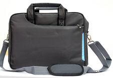 """Grey Laptop notebook slim shoulder bag messenger carry case 13""""  travel school"""