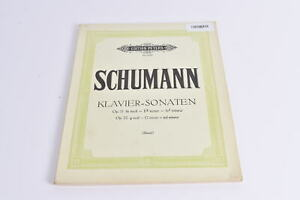 Notenbuch Schumann Klavier-Sonaten Op.11, Op.22 Klavier Edition Peters 2326 Saue