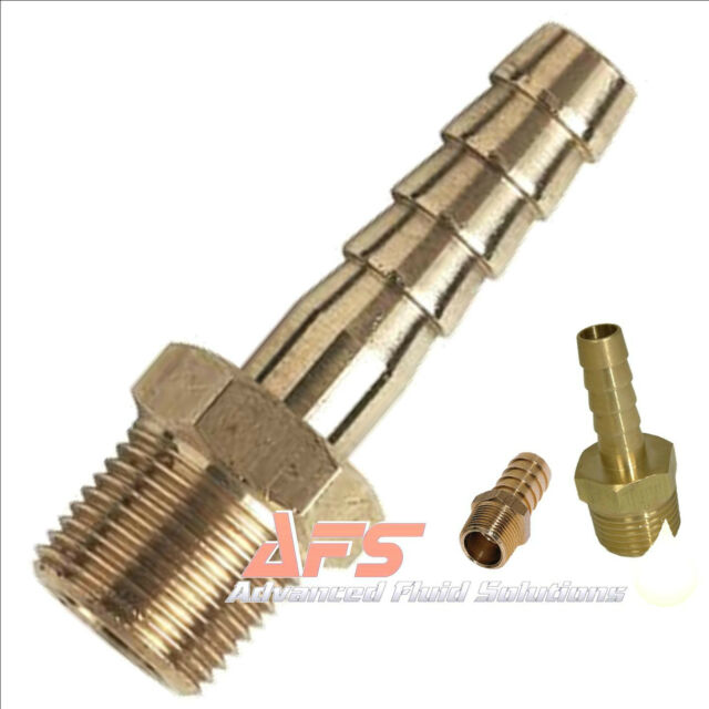 BRASS BSP Taper x Hosetail Fitting Connector Fuel Pipe