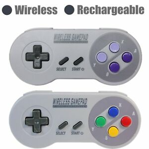 2pcs-Wireless-Controller-Gamepad-Joypad-For-Super-Nintendo-SNES-Classic-Console