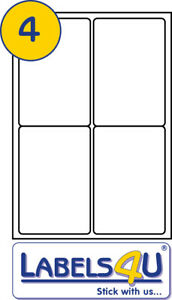 50 sheets of 4 labels per sheet size 99 1x139mm template codes l7169