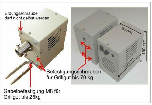 Getriebemotor 2,1 U//min Grillmotor 230V AC Wechselstr Drehmoment ca.30 Nm