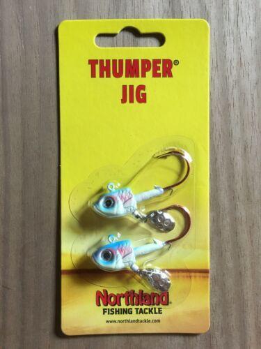 3//8 oz. Thumper® Jig Glow Rainbow Northland Fishing Tackle