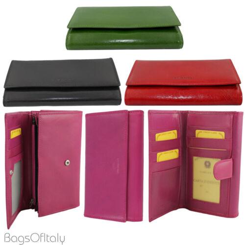 Tri-Fold CAVALIERI-DM grandi forti pressioni leather purse wallet 11 gli slot per schede