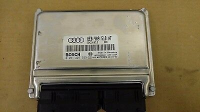 2002 Audi A4 1.8L Engine Computer Module ECM ECU Unit 8E0 909 518 F OEM Warranty